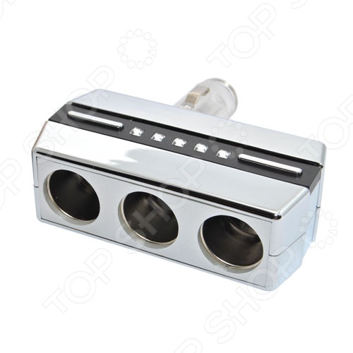 Разветвитель прикуривателя Автостоп AB-54036 обязательно пригодится тем, кто много времени проводит за рулем. Зачастую, салон современного автомобиля по наполнению электрооборудованием не уступает рабочему кабинету. Видеорегистратор, магнитола, навигатор, ионизатор воздуха, трансмиттер и многое другое можно подключать к автомобильному прикуривателю. Автостоп AB-54036 на 3 гнезда с поворотом на 90 градусов позволит вам подключать сразу несколько гаджетов.