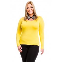 фото Кофта Mondigo XL 436. Цвет: желтый. Размер одежды: 48