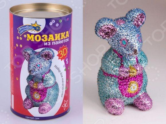 Мозаика из пайеток 3D «Мышка» Мозаика из пайеток Волшебная мастерская «Мышка» /