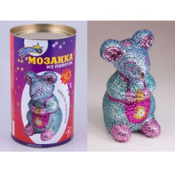 Купить Мозаика из пайеток 3D «Мышка»
