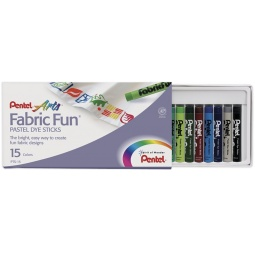 фото Пастель для ткани Pentel Fabric Fun Pastels: 15 цветов