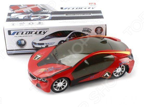 Машинка со светозвуковыми эффектами Shantou Gepai 8899-1FМашинки<br>Машинка 8899-1F представляет собой реалистичную копию настоящего спорткара. Модель выпущена известной компанией по производству игрушек Shantou Gepai. Автомобиль изготовлен из пластика и обладает потрясающей детализацией. Он оснащен световыми и звуковыми эффектами, что сделает игровой процесс еще более захватывающим. Игра на детской площадке или в песочнице с такой машиной надолго займет малыша и не даст ему заскучать. Яркий болид разнообразит игровые ситуации, откроет новые сюжеты для маленького автолюбителя и поможет развить мелкую моторику рук, внимание, воображение и координацию движений. Не упустите шанс порадовать ребенка замечательным подарком!<br>