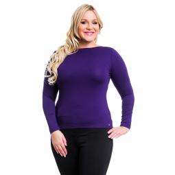 фото Кофта Mondigo XL 405. Цвет: темно-фиолетовый. Размер одежды: 52
