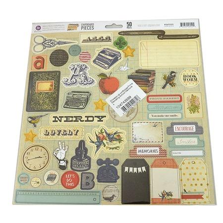 Купить Стикеры из чипборда Prima Marketing School Memories