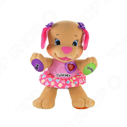 фото Игрушка интерактивная мягкая Fisher Price Сестричка ученого щенка, Мягкие интерактивные игрушки