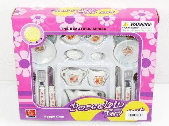 Набор посуды игрушечный Shantou Gepai «Мишки в сердце»Сюжетно-ролевые наборы<br>Набор посуды игрушечный Shantou Gepai Мишки в сердце станет замечательным подарком ребенку. Он содержит элементы, позволяющие разнообразить игровой процесс, сделать игру интереснее. Девочка почувствует себя настоящей хозяюшкой, такой же прекрасной, как и ее мама. Именно поэтому игровые наборы важны для детей, поскольку развивают фантазию, помогают научить ребенка доброте и заботе, почувствовать ответственность. Набор содержит 15 предметов на две персоны.<br>