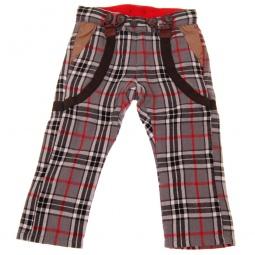 фото Брюки с подтяжками Mini Shatsu Grey Plaid Suspenders. Рост: 116-122 см