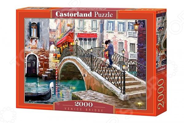 Пазл 2000 элементов Castorland «Мост. Венеция»Пазлы (1001–3000 элементов)<br>Пазл 2000 элементов Castorland Мост. Венеция замечательная головоломка, которая понравится и детям, и взрослым. Ведь это так увлекательно собирать красивое изображение из множества элементов словно художник, составляющий мозаику. На поверхность пазла нанесен четкий рисунок высокого качества, поэтому процесс сборки становится простым и приятным, а результат радует глаз. Кстати, готовое изображение может стать отличным украшением для вашего дома, если его наклеить на какую-нибудь плотную основу и использовать в качестве картины.<br>
