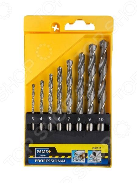 Набор сверл по металлу Stayer Profi 29602-H8 набор диэлектрических отверток stayer profi electro с тестером 8 предметов