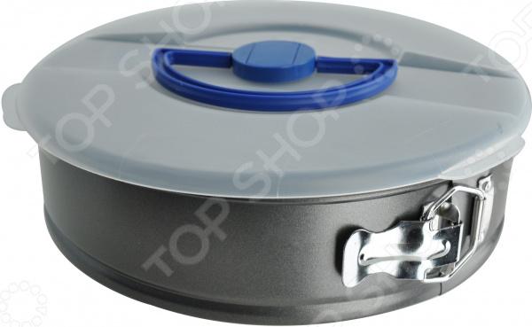 Форма для выпечки разъемная Regent Easy 93-CS-EA-5-16Металлические формы для выпечки и запекания<br>Форма для выпечки разъемная Regent Easy 93-CS-EA-5-16 с пластиковой крышкой отличное решение для вашей кухни. Форма изготовлена из высококачественной углеродистой стали, которая не взаимодействует с продуктами питания и не выделяет токсичных веществ. Противопригарное покрытие защитит блюдо от пригорания и облегчит мытье формы. Разъемная конструкция изделия поможет аккуратно извлечь выпечку, не повредив ее. А компактные габариты и небольшой вес формы значительно облегчает ее хранение. Укомплектованная пластиковая крышка создаст оптимальные условия во время запекания, чтобы ваш пирог или кекс пропекся и поднялся равномерно. Готовьте в свое удовольствие каждый день и радуйте домочадцев кулинарными шедеврами кухонь со всего мира.<br>