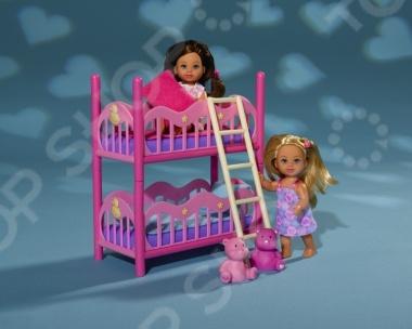 Набор кукол Simba «Еви с кроваткой» evi игровой набор simba еви с братиком с двухъярусной кроваткой 12 см