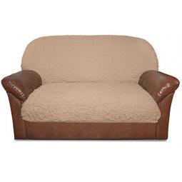 Натяжной чехол на подушку для двухместного дивана «Модерн. Какао»