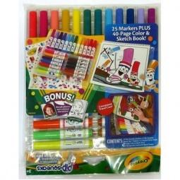 фото Набор: мини-фломастеры и альбом Crayola для раскрашивания и рисования