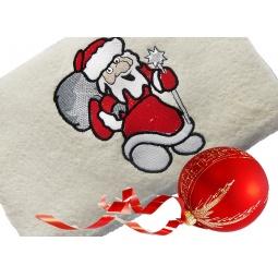 фото Полотенце подарочное с вышивкой TAC Santa claus. Цвет: бежевый