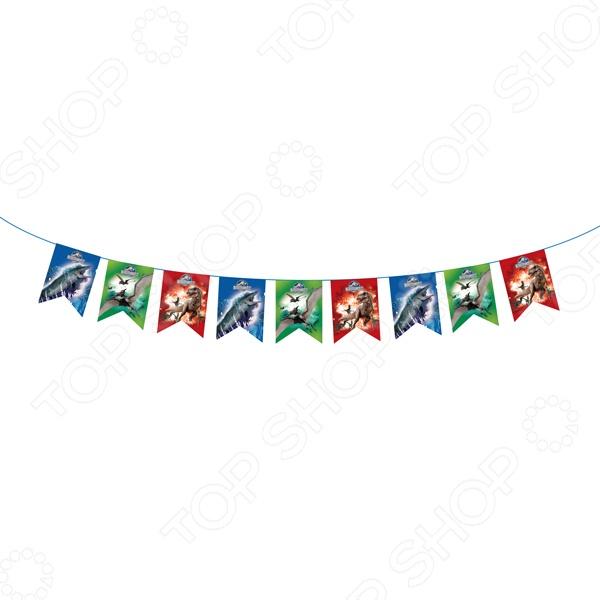 Гирлянда из флажков Росмэн 28303 «Динозавры. С днем рождения!»
