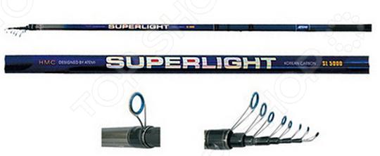 Удилище телескопическое с облегченными кольцами Atemi Superlight HMC