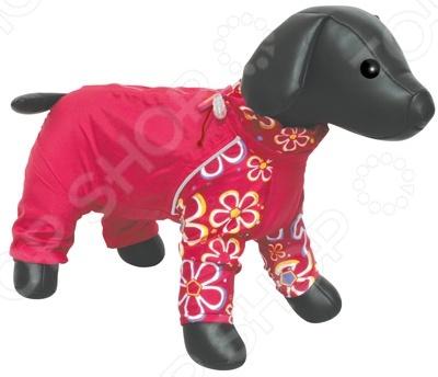 Комбинезон для собак DEZZIE «Такса кроличья». Цвет: красный комбинезон для собак тузик такса кроличья м холодный