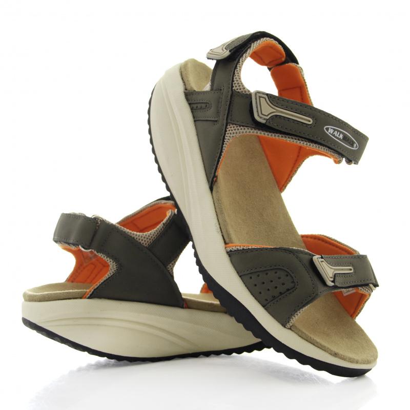 Фото Дышащие cандалии женские Walkmaxx Pure. Цвет: бежевый, оранжевый