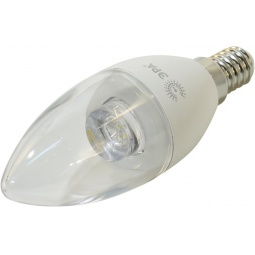 фото Лампа светодиодная Эра B35 Clear. Цоколь: E14. Цветовая температура: 4000К