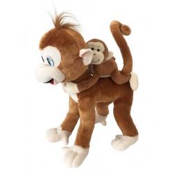 фото Мягкая игрушка Fluffy Family «Обезьянка Микки с детенышем»