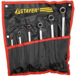 фото Набор ключей накидных изогнутых Stayer «Мастер» 27151-H6