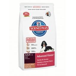 фото Корм сухой для собак Hill's Science Plan Advanced Fitness с ягненком и рисом. Вес упаковки: 12 кг