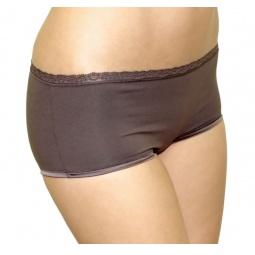 Купить Трусики шорты мини с кружевной отделкой BlackSpade 1411. Цвет: коричневый