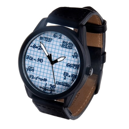 Купить Часы наручные Mitya Veselkov «Формулы на клетке» MVBlack