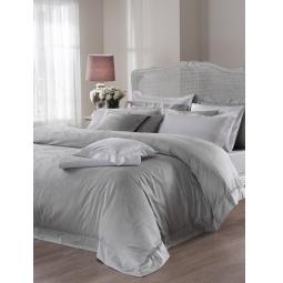 фото Комплект постельного белья Valeron Angelique. Евро. Цвет: серый