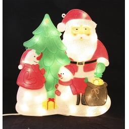 Купить Декорация рождественская с гирляндой Метелица «Дед Мороз» 2286