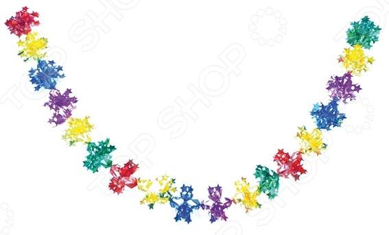 Растяжка новогодняя Снегурочка звездная Н88419