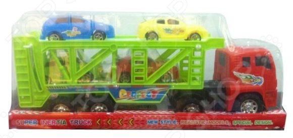 Машина инерционная Shantou Gepai «Автовоз»Машинки<br>Машина инерционная Shantou Gepai Автовоз отлично смоделированная грузовая машина, с хорошей детализацией и инерционным механизмом, которая подойдет для игр как дома, так и на улице с друзьями. Внутрь поместятся 4 машинки. Игрушку займут малыша на долгое время и не заставят его скучать. Отличный вариант для пополнения коллекции хороших и качественных игрушек.<br>
