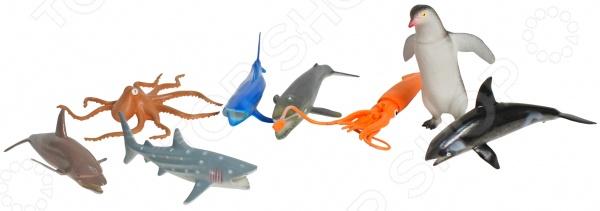 Набор фигурок 1 Toy «Морские животные»Игрушечные животные<br>Набор фигурок 1 Toy Морские животные это замечательный подарок для вашего малыша. В комплекте вы найдете фигурки самых распространенных морских созданий. Играя с ними, ребенок сможет узнать больше об окружающем мире и сможет сам создавать игровые ситуации. Данный набор украсит любую детскую комнату и принесет радость и веселье во время игр. Набор фигурок 1 Toy Морские животные способствует развитию зрительной координации, воображения и мелкой моторики рук. Кроме того, тренируется наблюдательность, образное восприятие и логическое мышление.<br>
