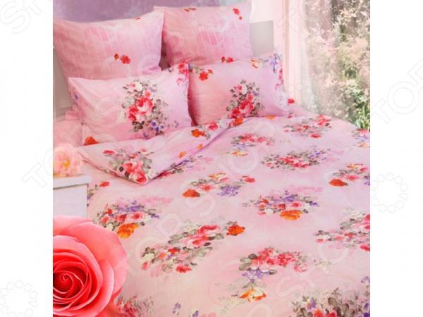 Комплект постельного белья Сова и Жаворонок «Розы» 19073. 1,5-спальный
