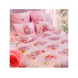 фото Комплект постельного белья Сова и Жаворонок «Розы» 19073. 1,5-спальный