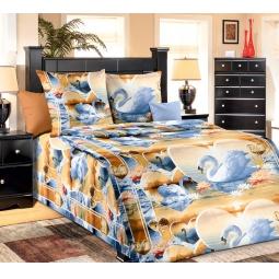 фото Комплект постельного белья Белиссимо «Верность». 1,5-спальный. Цвет: бежевый