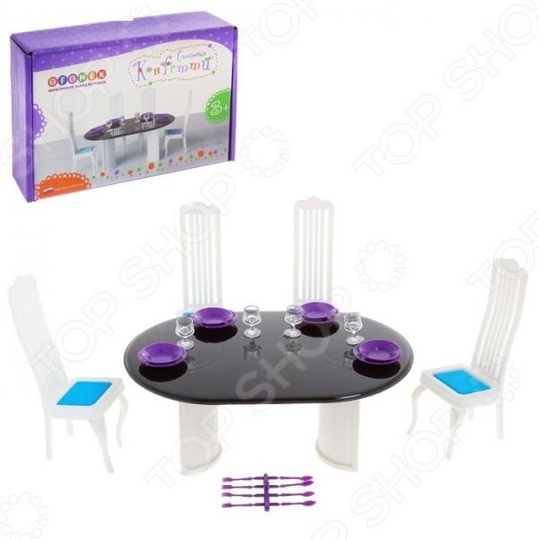 Мебель для куклы Огонек «Столовая Конфетти»