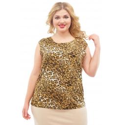 Блуза Элеганс «Верия». Цвет: леопардовый