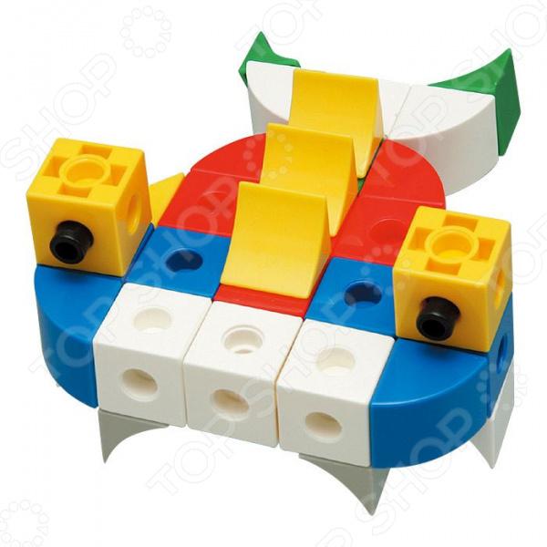 Конструктор развивающий Gigo «Рыбы»Другие виды конструкторов<br>Конструктор развивающий Gigo Рыбы способствует запоминанию цветов, форм и размеров. Уникальная конструкция кубиков, требующая для их соединения или разъединения поворота относительно друг друга, способствует развитию моторики рук ребенка. В набор входят кубики, призмы и штифты из которых можно собрать 20 морских животных по инструкции или придумать своих обитателей моря. В комплекте 71 деталь.<br>