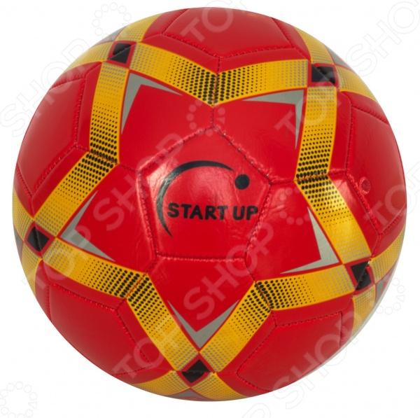 Мяч футбольный Start Up E5123Мячи футбольные<br>Мяч футбольный Start Up E5123 станет отличным приобретением для начинающего спортсмена. У вас появится возможность попробовать себя в роли профессионального футболиста и на практике отработать различные игровые приемы. Занятия футболом позволяют укрепить здоровье и способствуют развитию выносливости, скорости реакции и физической силы. Камера мяча выполнена из бутила, а верх из полиуретана и поливинилхлорида. Мяч сшит из 32 панелей, тип сшивки машинный. Прекрасно подходит для тренировок и игр на природе.<br>