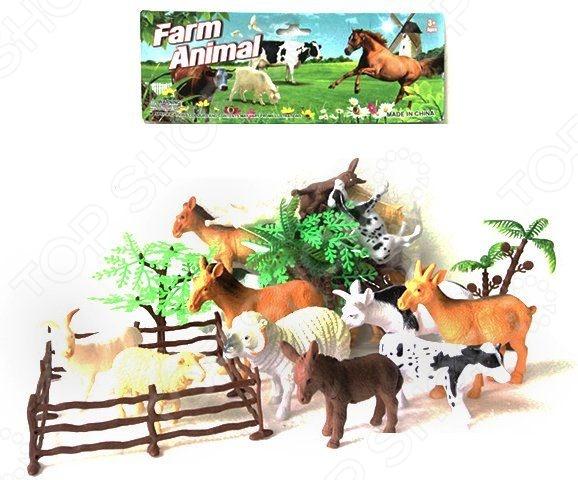Набор фигурок домашних животных Shantou Gepai с аксессуарами 2C214-3Игрушечные животные<br>Набор Shantou Gepai с аксессуарами 2C214-3 это замечательный подарок для вашего малыша. В комплекте вы найдете фигурки животных, а также деревья и загон. Для увеличения сходства с прототипами, зверюшки выполнены с высокой степенью детализации, а значит прекрасно подойдут ребенку для изучения строения тел этих домашних животных. Данный набор украсит любую детскую комнату и принесет радость и веселье во время игр. Игрушки изготовлены из прочного пластика, который абсолютно безвреден для ребенка. Набор фигурок Shantou Gepai с аксессуарами 2C214-3 способствует развитию зрительной координации, воображения и мелкой моторики рук. Кроме того, тренируется наблюдательность, образное восприятие и логическое мышление.<br>
