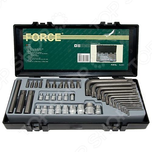 Набор бит и торцевых головок Force F-4411