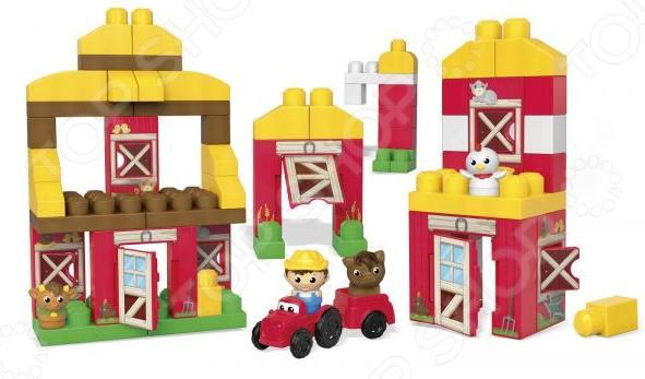 Конструктор игровой Mega Bloks «Веселая ферма»Игровые конструкторы<br>Конструктор игровой Mega Bloks Веселая ферма оригинальный набор для маленьких строителей, состоящий из множества деталей, которые собираются в целую ферму: амбар, стойло и курятник. Двери и окна построек открываются. Также входит в фермер в комплект. Этот набор из восьми блоков-панелей, предлагает невероятные возможности по соединению и общей сборке. Элементы сделаны из прочного пластика, окрашены безопасными и устойчивыми к стиранию красками. Детский конструктор является достаточно практичным учебным пособием, так как он развивает память, мышление, логику, фантазию, а также моторику рук. Сборка конструктора подарит ребенку массу удовольствия и приятное времяпрепровождение. В комплекте: фигурка фермера; трактор; фигурки животных; детали конструктора.<br>