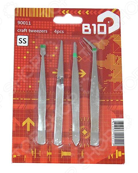 Набор пинцетов B10 90011, 4 шт.