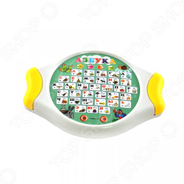 Игра развивающая Shantou Gepai «Азбука» 621702Другие обучающие и развивающие игры<br>Игра развивающая Shantou Gepai Азбука 621702 оригинальная и интересная игра, которая станет отличным развлечением, как для детей и их друзей, так и для всей семьи. Игра направленна на развитие различных навыков: внимательности, моторики, а так же коммуникативных навыков. В игровой форме участники игры смогут оттачивать свои навыки и умения. Процесс игры подарит множество положительных эмоций и позитива, а так же даст возможность весело и с пользой провести досуг. Игра выполнена из качественных и безопасных материалов, а все ее детали приятны на ощупь. Игрушка работает от 3 батареек 1,5 V типа АА в комплект не входят . Есть три режима игры:  Изучение букв . При нажатии на кнопку, азбука подскажет правильное произношение буквы.  Игра . Азбука просит найти нужное изображение предмета.  Экамен . Азбука просит найти нужную букву.<br>