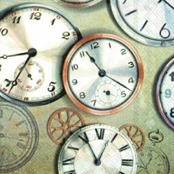 Купить Салфетки бумажные для декупажа IHR «Часы - циферблаты»