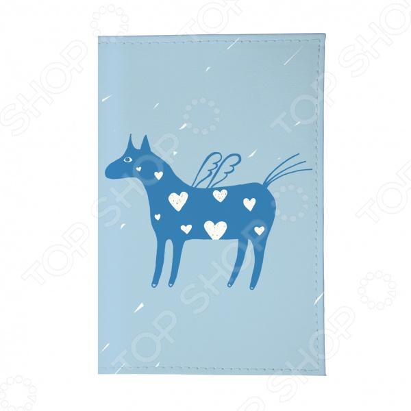 Обложка для паспорта Mitya Veselkov «Крылатая лошадка» обложки kawaii factory обложка для паспорта мы с вами лошадка