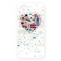 фото Чехол для iPhone 5 Mitya Veselkov London «Сердце». Цвет: белый