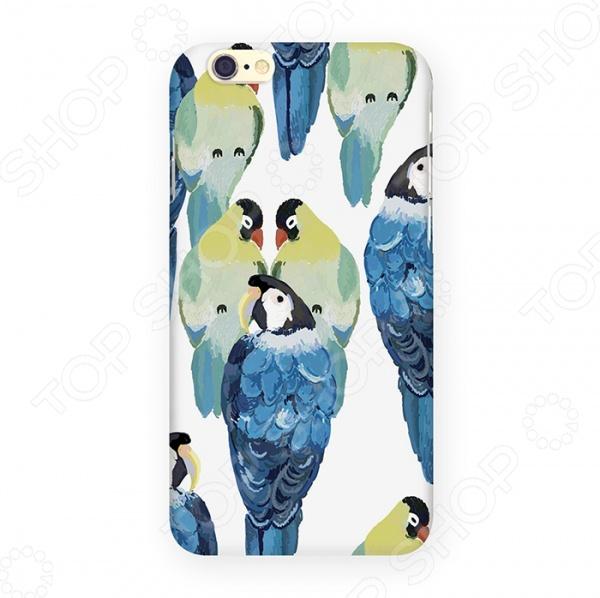 Чехол для iPhone 6 Mitya Veselkov «Попугаи» попугаи розелла фото москва