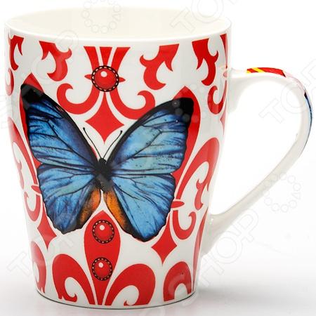 Кружка Loraine «Бабочка» керамическая посуда